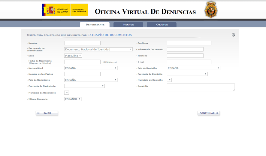 oficina virtual de denuncias 2