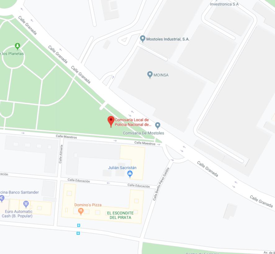 localización comisaria de móstoles